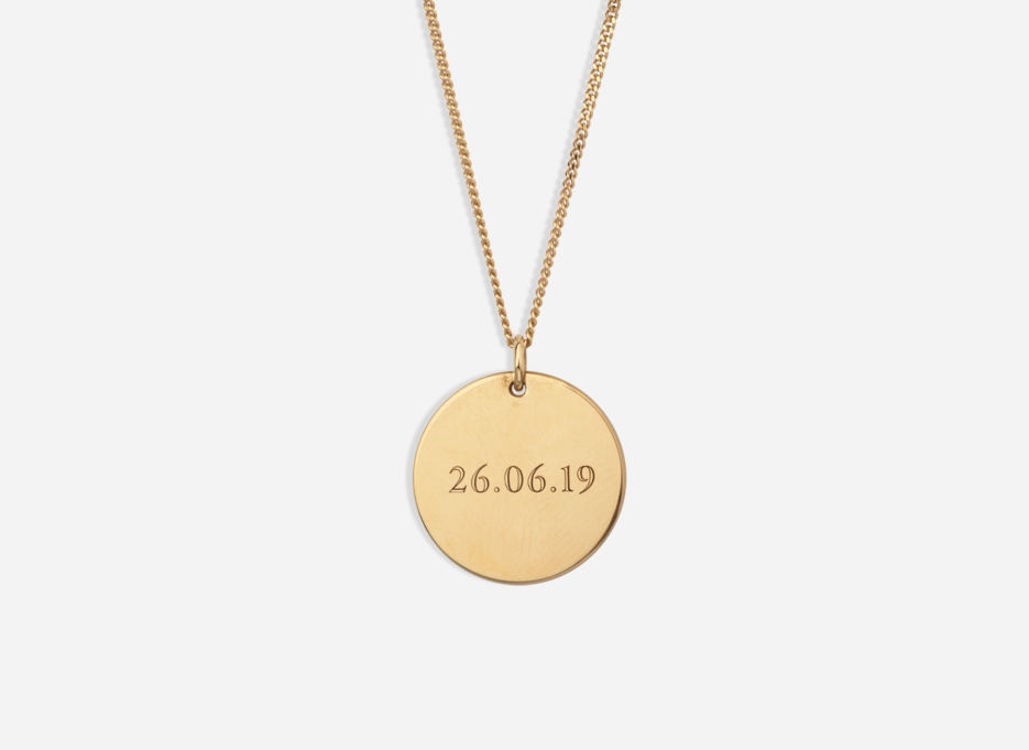 Engravable Necklaces   Gold Vermeil and Sterling Silver