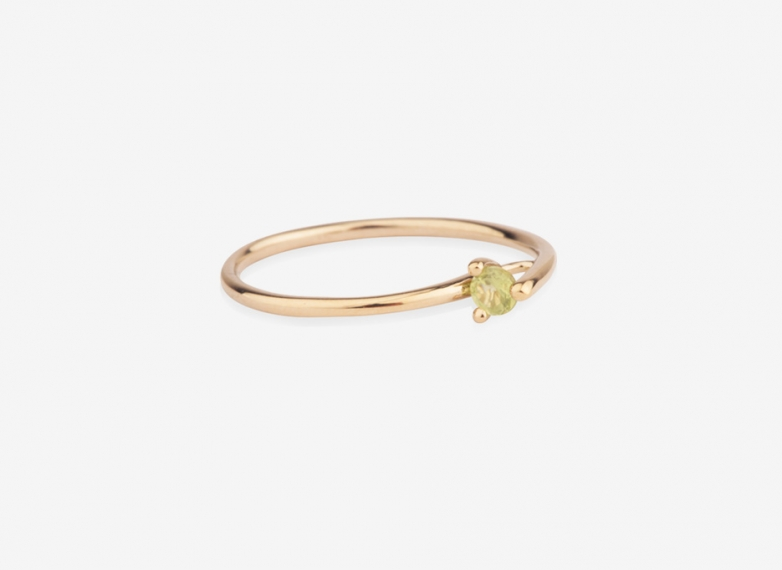 Wilted Bloom Ring, 9ct Gold and Amethyst