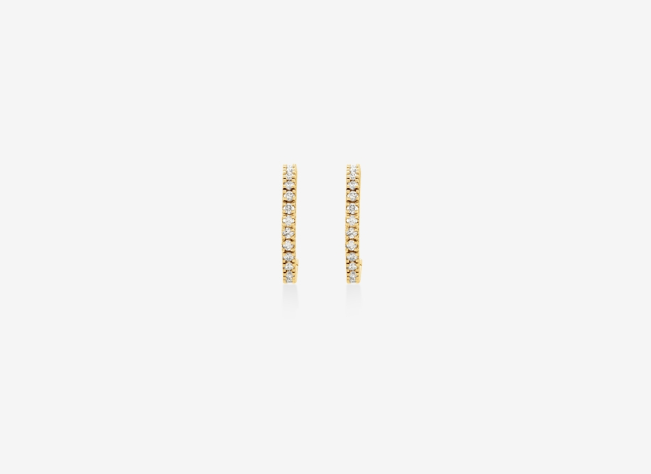 Bahia Blanca Diamond Earrings - 14ct Yellow Gold