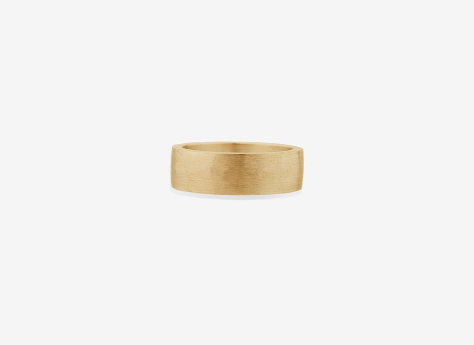 Isherwood Oversized Band 7mm, Gold