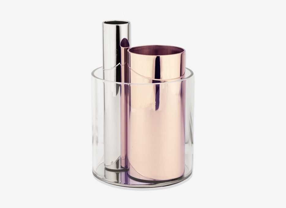 BEYOND OBJECT | Silver and Copper 'Penpo' desk organiser