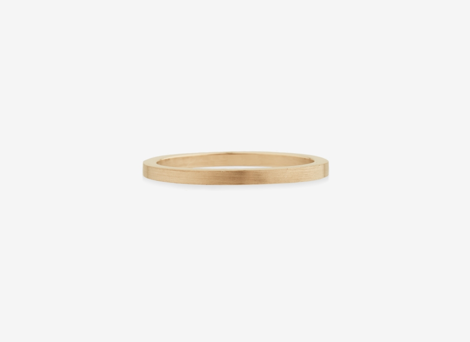 Slim Wedding Band Ring in Gold, 1.5mm