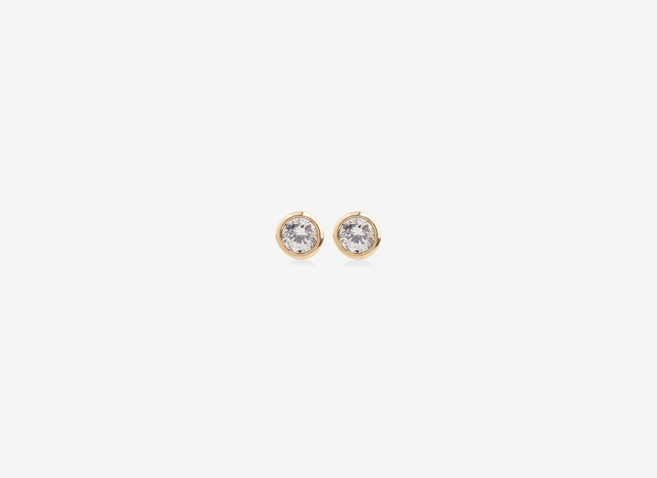 Tiny Diamond Studs - 9ct Yelllow Gold