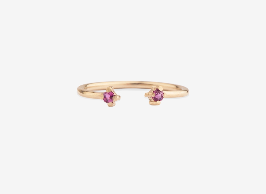 Double Bloom (Divided) Ring, 9ct Gold