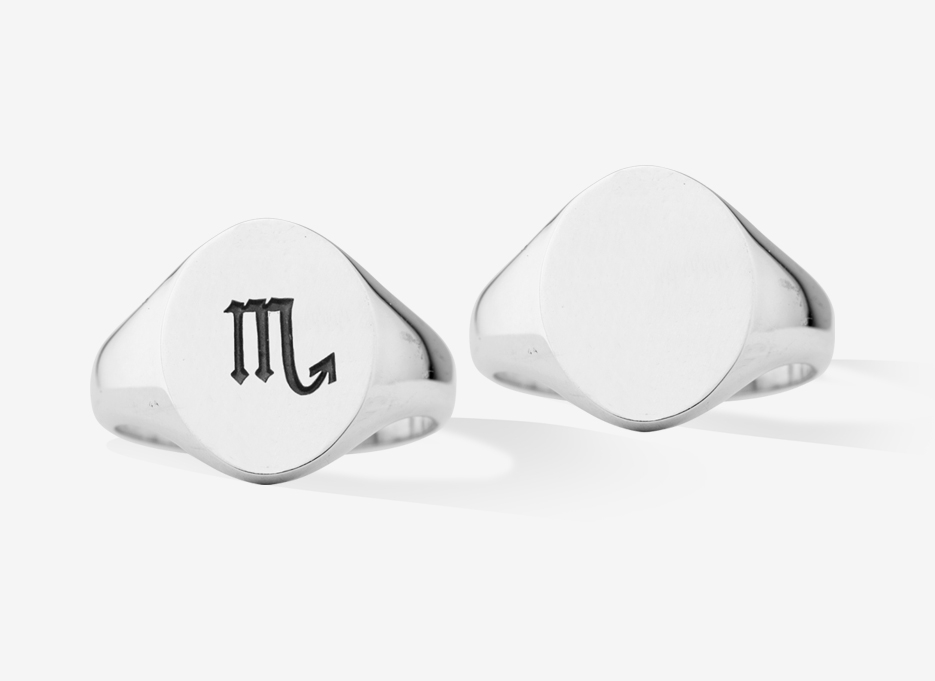 Engravable Signet Ring in Sterling Silver