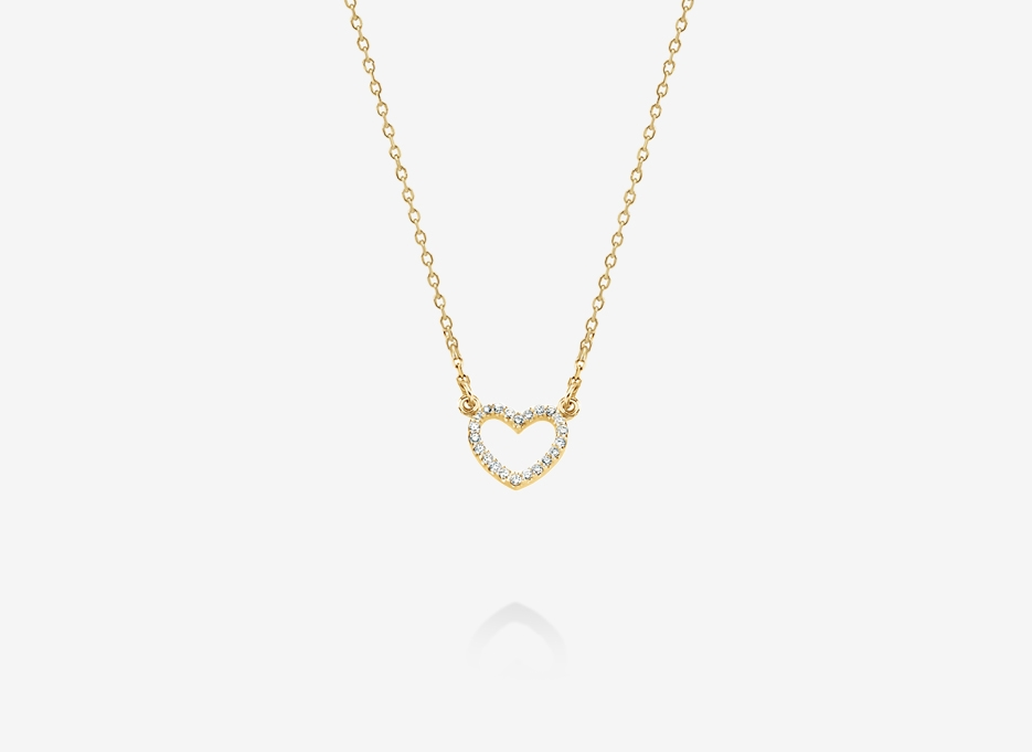 Heart Necklace - 14ct Yellow Gold
