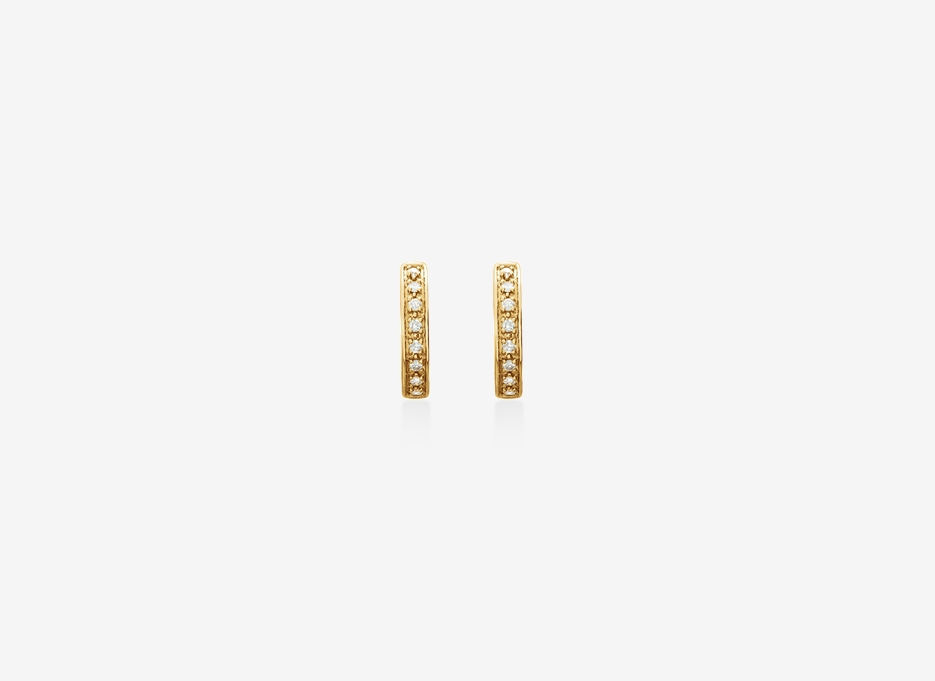 Ila Diamond Earrings - 14ct Yellow Gold