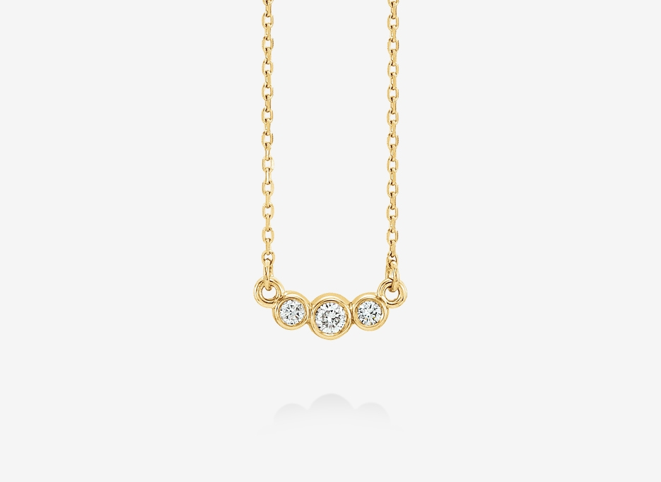 Jean Diamond Necklace - 14ct Yellow Gold