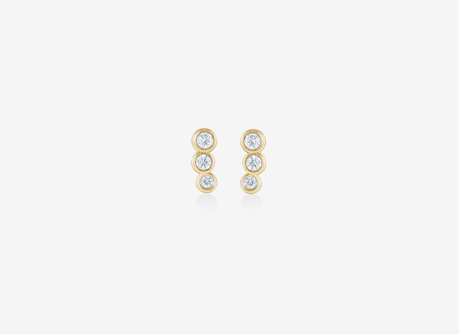 Joan Diamond Earrings - 14ct Yellow Gold