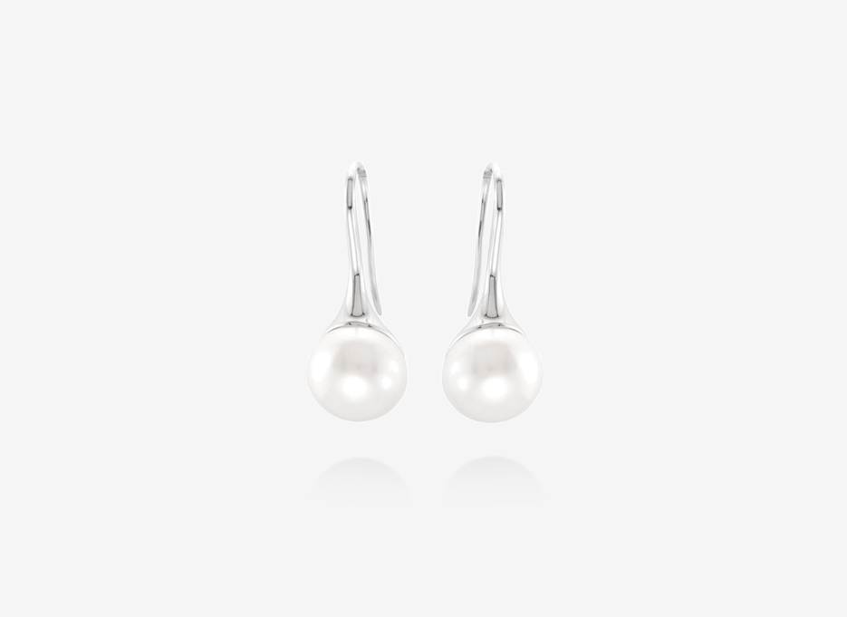 Magas Pearl Earrings - 12mm Freshwater Cultured Pearl, Sterling Silver