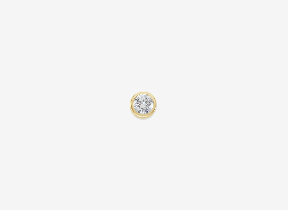 Maud Medium Diamond Single Stud - 14ct Yellow Gold