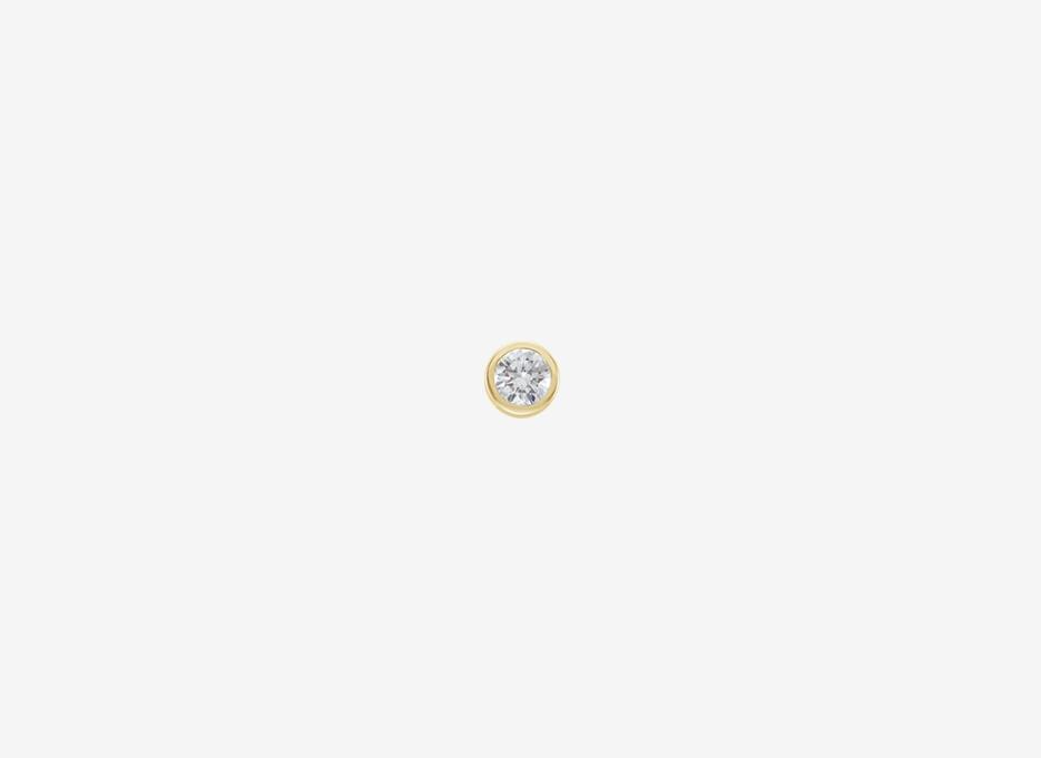 Maud Small Diamond Single Stud - 14ct Yellow Gold