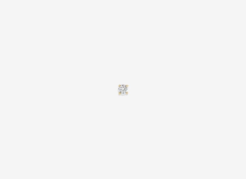 Noa E Tiny Diamond Single Stud - 14ct Yellow Gold