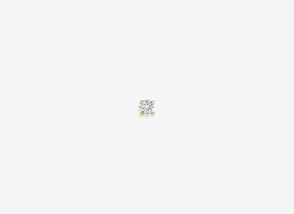 Noa N Small  Diamond Single Stud - 14ct Yellow Gold
