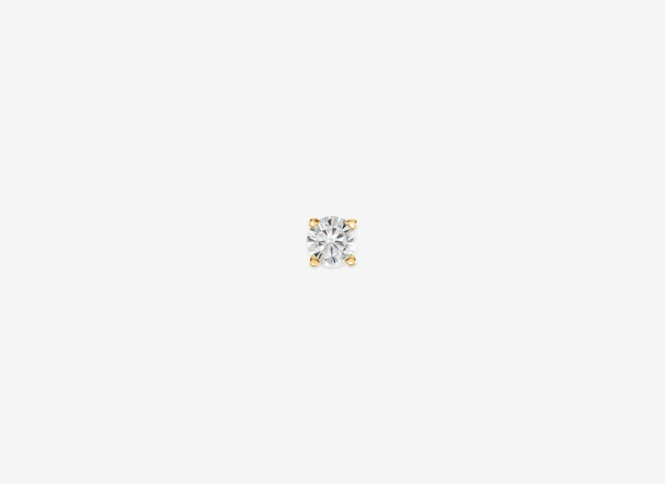 Noa R Medium Diamond Single Stud - 14ct Yellow Gold