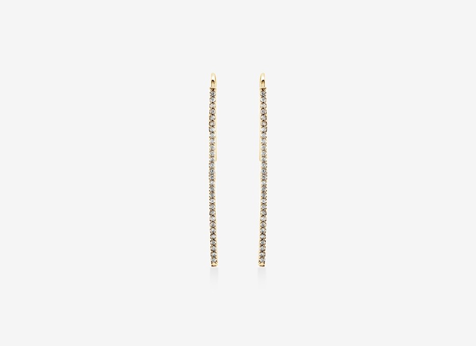 Nomi Diamond Earrings - 14ct Yellow Gold