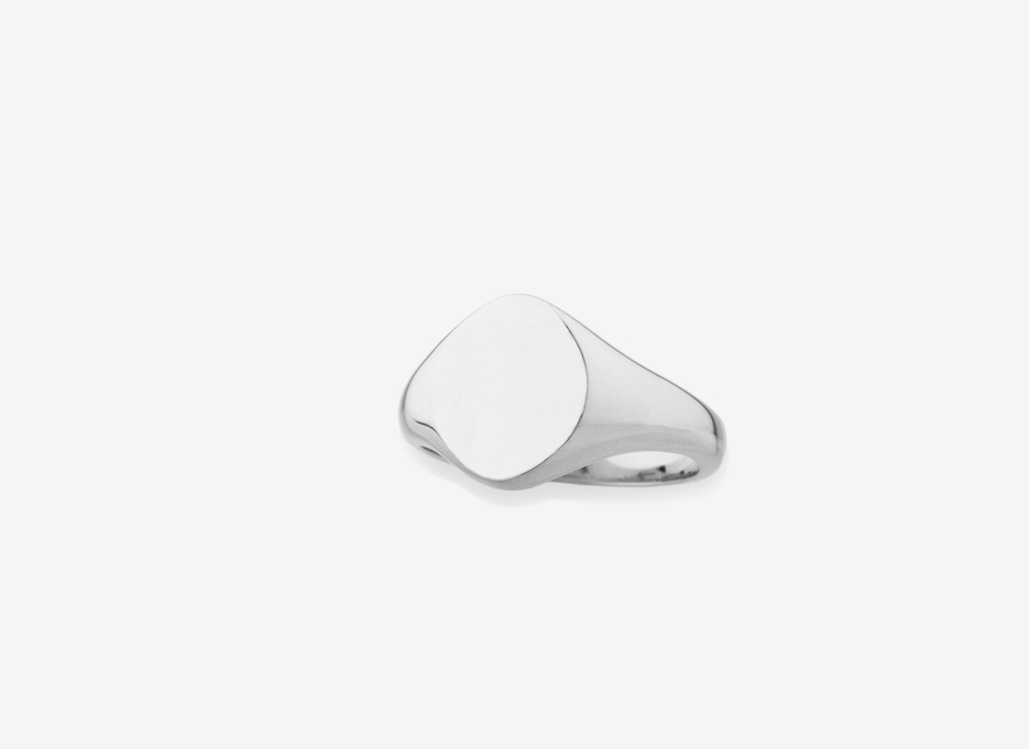Sebald Seal Oval Ring, Sterling Silver