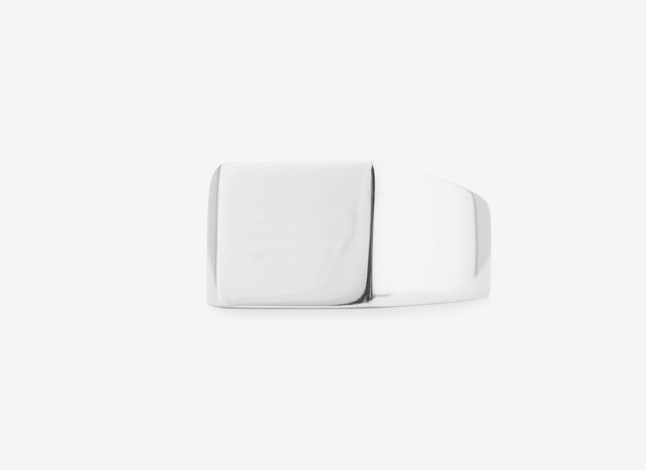 Sebald Signet Square Ring, Sterling Silver