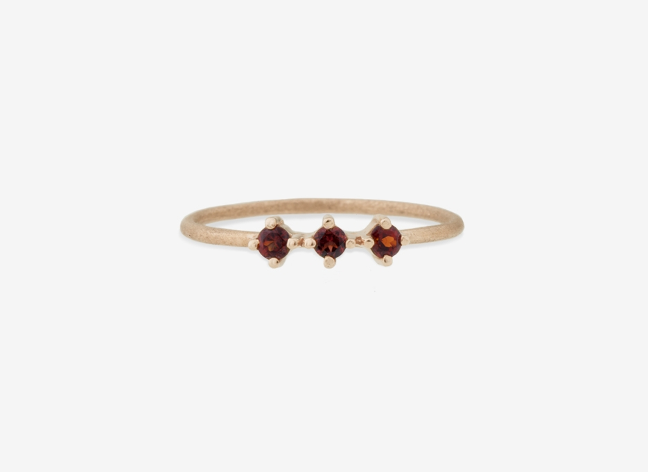 Triple Bloom Ring, 9ct Gold