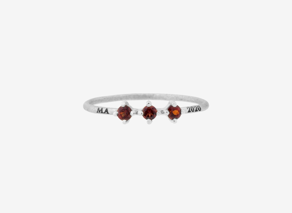 Triple Millie Ring in Sterling Silver