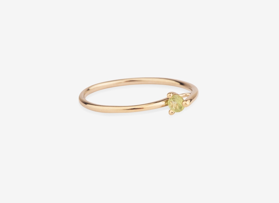 Bloom Split Ring, 9ct Gold